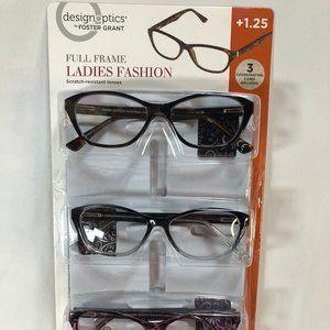 Reading Glasses 3-Pack +1.25